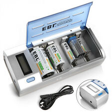 EBL 906 Universal AA/AAA/C/D 9V 6F22 NI-MH NI-CD LCD Smart Rapid Battery Charger