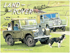 Land Rover Series 1 Sheep Dog Farming Off Road 4x4 Old Car, Small Metal/Tin Sign