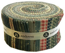 "Andover KEY WEST Double Scoop 2.5"" Strip Roll Precut Fabric Strips Jelly Roll"
