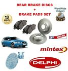 FOR VOLVO V70 CONVERTIBLE 1995-2005 NEW REAR BRAKE DISCS + PADS SET