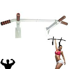 Pull Up Chin Lip Bar Wall Mounted Chinning Station GYM Fitness Exercise Bracket