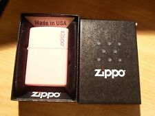 Zippo Lighter Pink with Logo in presentation case Brand New & Sealed