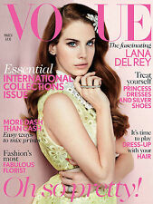 VOGUE March 2012,Lana Del Rey,Mario Testino,Lily Collins,Abbey Lee,Karlie Klos