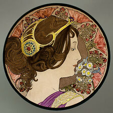 Mucha, primrose, glasspainting, stained glass, suncatcher, Mucha, art nouveau