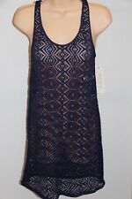 NWT Roxy Swimsuit Bikini Cover Up Tunic Tank Dress Size M PSS0 Purple Crochet