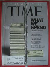 TIME MAGAZINE OCTOBER 10 2011 WHAT WE SPEND AGE OF VOLATILITY...KEPT LIKE  NEW!