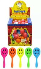 48x mini smiley face maracas childrens party bag fillers kids fete toy UK SELLER