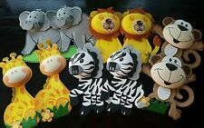 "10 pcs 8"" baby shower/bday party Safari/jungle Animals Foam Decorations"