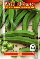 40 Semi/Seeds OKRA Clemson Spinelles