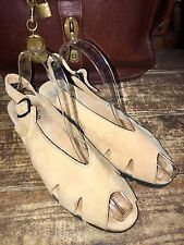 ARCHE Made In France Tan Beige Suede Wedge Sandals Women's EU 39 US 8 8.5 $295