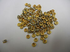 36 swarovski xilion rhinestone rondelles,5mm light azore / unplated brass