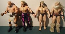 "Lot of 4 WWE WWF 1/6th 12"" Action Figure Wrestlers with Goldberg+others kitbash"