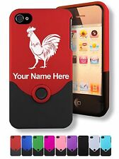 Personalized Custom Laser Engraved iPhone 4 4S Case/Cover - ROOSTER
