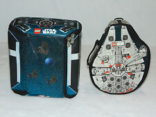 NEW Pair of Lego Star Wars ZipBin Carrying Cases Millenium Falcon & Death Star