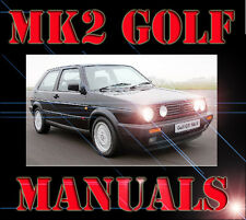 VW MK2 GOLF GTI 8v 16v 1.6 1.8 2.0 SERVICE MODIFICATION  WORKSHOP PARTS MANUAL