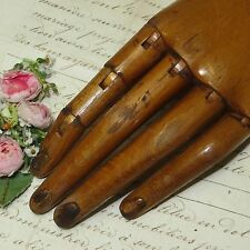 ANTIQUE VINTAGE JOINTED ARTICULATED WOOD MANNEQUIN HAND GLOVE DRESS FORM FRENCH