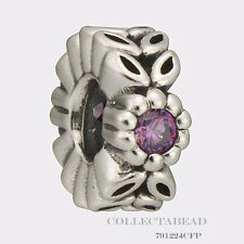 Authentic Pandora Sterling Silver Violet Twice As Nice Spacer 791224CFP