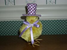 BURTON & BURTON  EASTER CHICK WITH PURPLE HAT-NEW