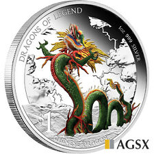 AGSX 2012 Dragons of Legend - Chinese Dragon 1oz Silver Coin Silver Proof Coin