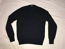Loro Piana Italy Made Mens V-neck Sweater SZ 50 (M) 50% Cashmere 50% Silk Navy