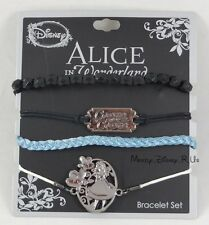 Disney Alice In Wonderland Curiouser Cord Bracelet Set Charms 4 Pack Arm Party