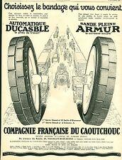 """Publicité Ancienne """" Pneu DUCASBLE - ARMUR 1926 """" ( P 34 ) Puybelle No 88"""