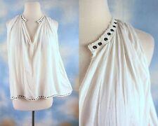 NEW $98 DENIM & SUPPLY RALPH LAUREN ivory gauze boho high low blouse shirt XL