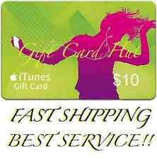 Apple $10 iTunes US Gift Card Code Key Voucher Certificate USA Dollar 100% FAST
