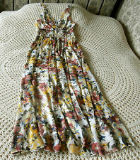 Long party dress by LA REDOUTE Size 8 - 10 Cream & multi muted shades Floral
