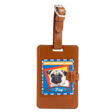 Top Paw Pug Retro Luggage BackpackTag curious-rambunctious-wiggler