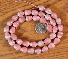 """~NICE Quality~ Rhodochrosite Teardrop Beads 16"""" strand"""