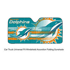 NFL Miami Dolphins Car Truck Front Windshield Accordion SunShade Large Size