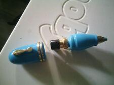 vaporisateur parfump forme stylo rare originale plastique bleu