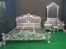 BESPOKE Custom made Any Size Rococo Bed and Dressing table , mirror with stool