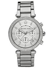 Michael Kors Parker Silber Edelstahl Chronograph Damen Uhr MK5353