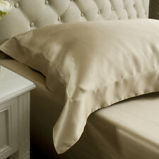 Jasmine Silk 19 MM Charmeuse Oxford Silk Pillow Case Taupe RRP £35