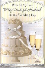 Con tutto il mio amore per il mio meraviglioso marito sulla nostra Wedding Day Scheda. Cake & Champagne
