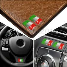 KIT 2PCS ADESIVO STICKERS BANDIERA ITALIA IN METALLO PER Fiat AUTO MOTO