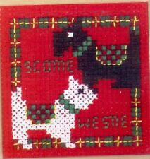 "Textile Heritage Cross Stitch Magnet Kit ""Scottie & Westie"""