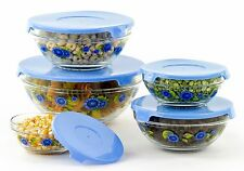 10 Pc Cute Glass Bowls Food Containers – Prep Bowls Kitchen Freezer Containers