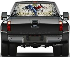 Eagel USA Flag Vulture American Citizen 6  Rear Window Graphic Decal  Truck SUV