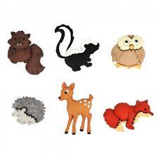 Forest Babies Dress It Up Novelty Craft Buttons Chipmunk Deer Fox Owl Hedgehog