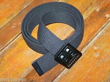 Belt & Buckle Web Cotton Canvas Military Utility Fashion Army Marine USMC Jeans