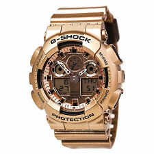 Casio G-SHOCK GA100GD-9A ROSE GOLD Analog Digital Men's Sport Watch | AUTHENTIC