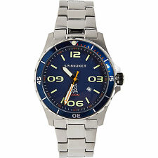 Spinnaker Quarzo Quadrante Blu Gents Watch Rrp £ 340