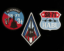 Three US Air Force Lockheed SR-71 Blackbird Patches Vietnam War Recce Spy CIA