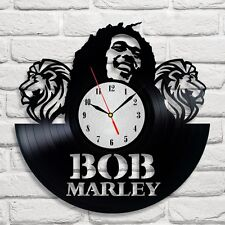 Bob Marley design vinyl record wall clock home art club shop bedroom office 3