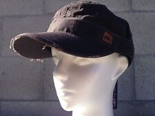Quiksilver Unisex Military Mens Womens Army Brown Flat Hat Cup Beach Pool S/M
