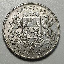 1925 Latvia 2 Lati KM# 8 Silver Coin