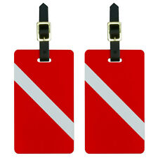 Diving Flag - Scuba Diver Dive Luggage Suitcase Carry-On ID Tags Set of 2
